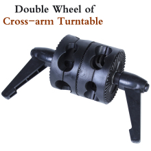 Photo Studio NEW PHOTOGRAPHIC EQUIPMENT Double  wheel of cross arm turntable