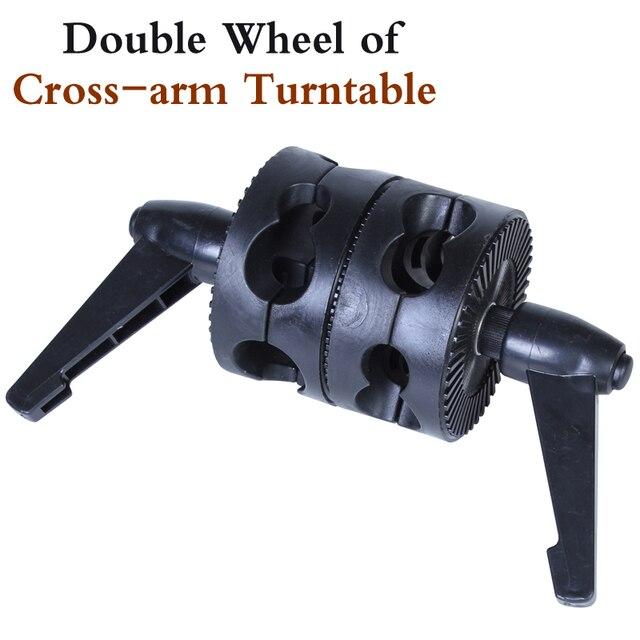 Photo Studio NEW PHOTOGRAPHIC EQUIPMENT Double  wheel of cross arm turntable