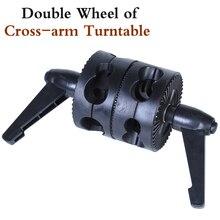Studio Photo nouvel équipement photographique Double roue de plaque tournante à bras croisés