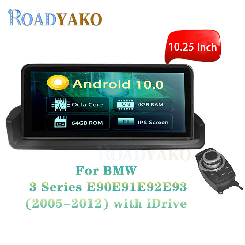 <font><b>10.25</b></font>'' <font><b>Android</b></font> 10.0 Car Radio Navigation GPS player For <font><b>BMW</b></font> 3er <font><b>E90</b></font> E91 E92 E93 2005-2012 with iDrive Stereo 2 Din Autoradio image