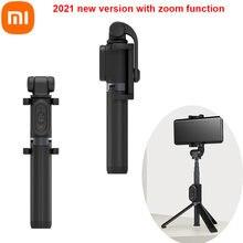 Original xiaomi monopod mi selfie vara zoom/sem zoom tripé bluetooth com controle remoto sem fio 360 rotação dobrável para android ios
