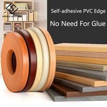 10M 2cm Self adhesive Furniture Wood Veneer Decorative Edge Banding PVC for Furniture Cabinet Office Table