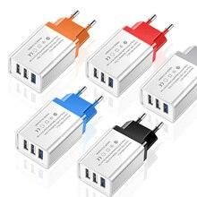 3 Ports USB Charger Travel Adapter 5V 3.1A Wall Portable Cha