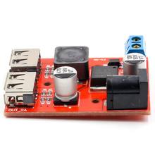 LM2596 LM2596S Dual USB DC-DC 9V 12V 24V 36V to 5V 3A Step Down Buck Converter Board Car Charger Solar Power Supply Module(China)