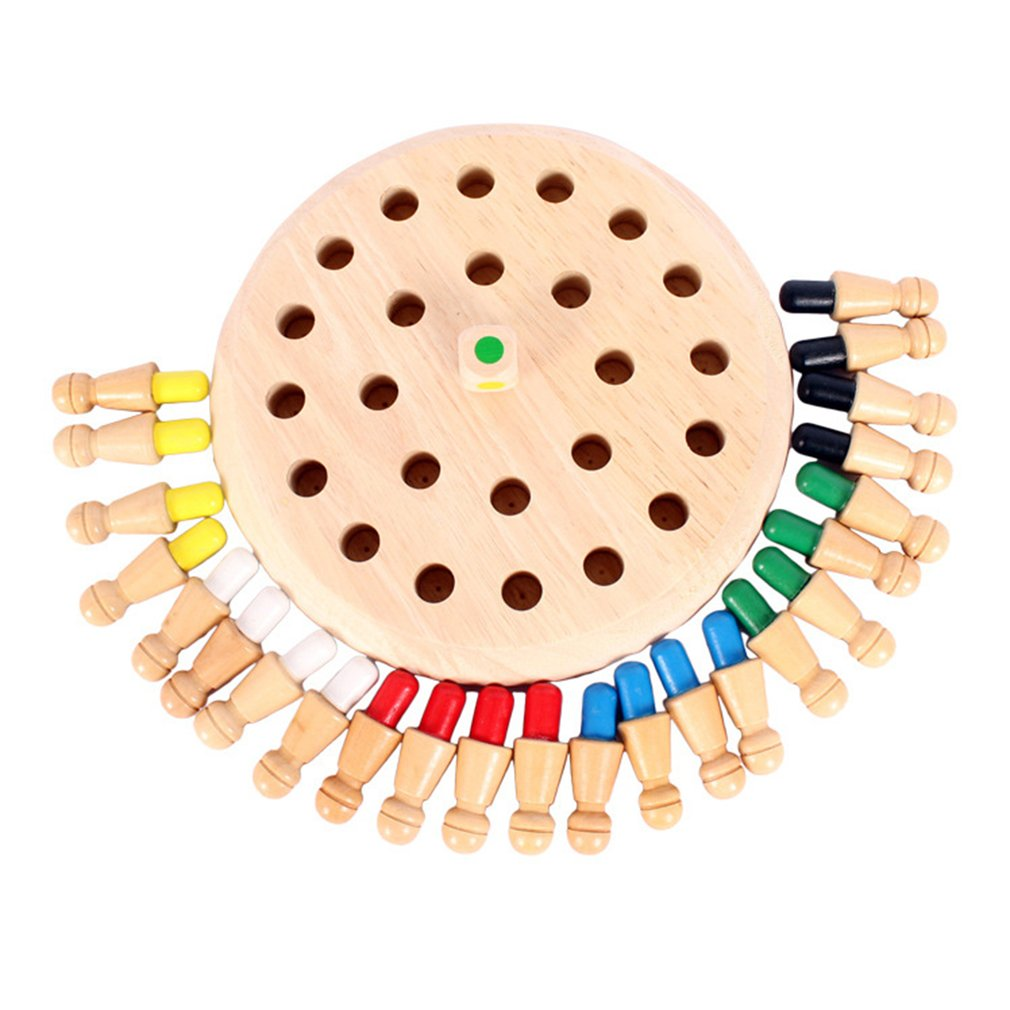 Детская деревянная палочка для запоминания, шахматная игра, веселая настольная игра, развивающая цветная игрушка для познавательных спосо...