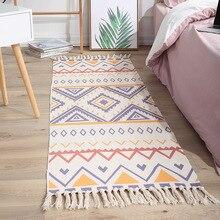Tapis de Table doux avec pompons rétro, pour la maison, pour porte, décoration de salon, en Mandala