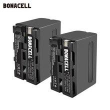 Bonacell bateria 7.2v 8700mah NP F960 NP F970 np, f960 f970 f950 para sony PLM 100 CCD TRV35 mc1500c l50