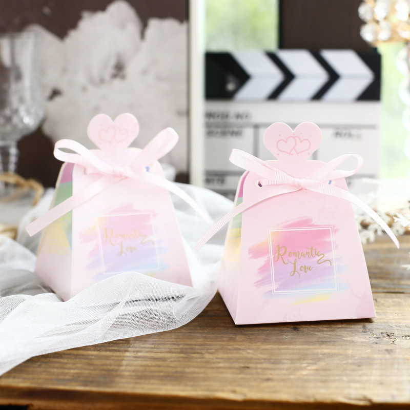 Ppaer Printed chocolates Gift Boxes Wedding Decoration Candy Box  Sweet Party Favor Gift Box Packing Gift for Guest