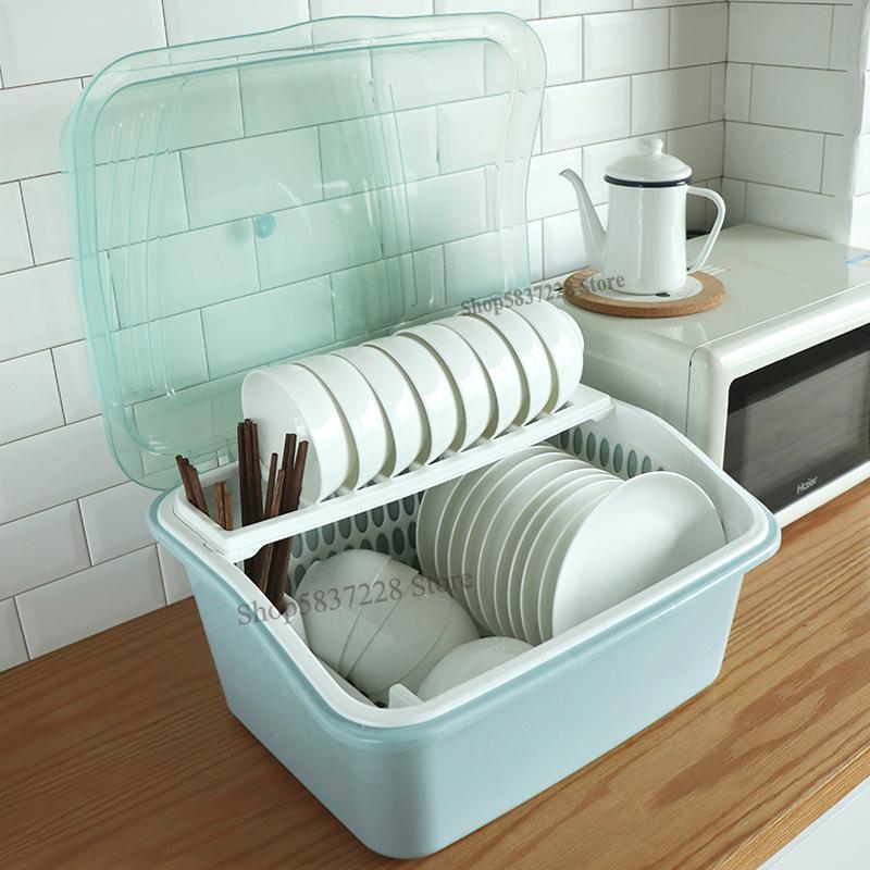 Ящик для хранения посуды с крышкой, ящик для хранения посуды, шкаф для дома, очень большая кухонная стойка