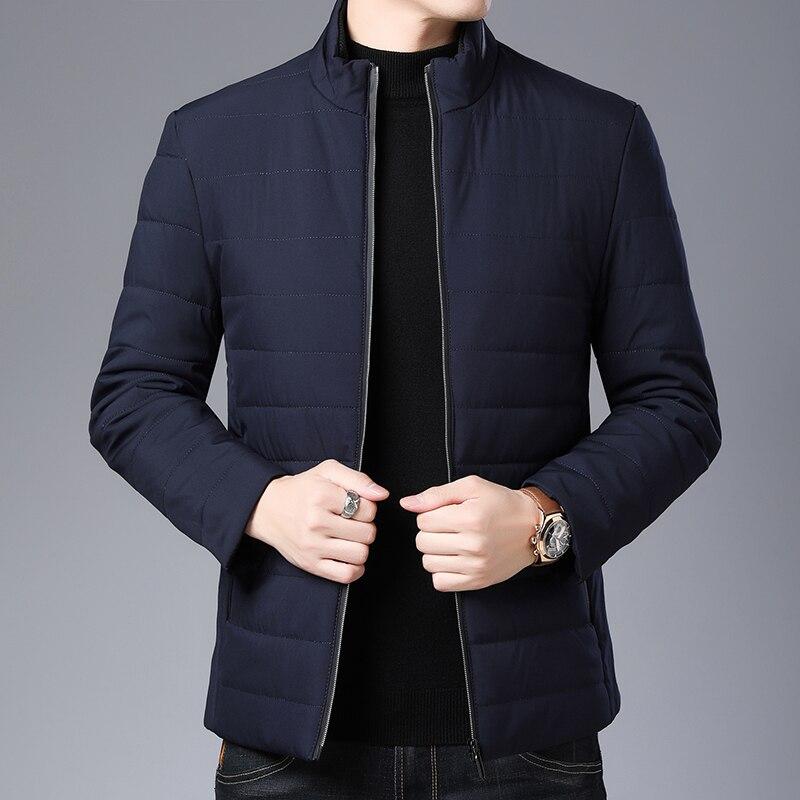 2019 épais hiver marque de mode vestes hommes Parka Streetwear coréen matelassé veste bouffante bulle manteaux hommes vêtements - 3