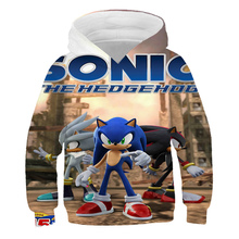 New Arrival Sonic and Mario Print Kids Autumn Hoodies Toddler Boys Girls Sweatshirts Children Outwear Long Sleeve Tops