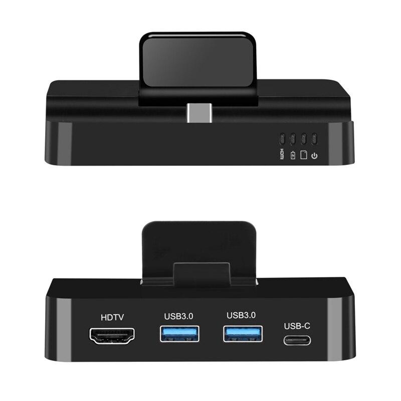 Type C à USB 3.0 OTG SD TF lecteur de carte Dock support de chargeur pour Huawei P20 P30 Mate 20 30 Pro Samsung S8 S9 S10 téléphone vers HDMI TV