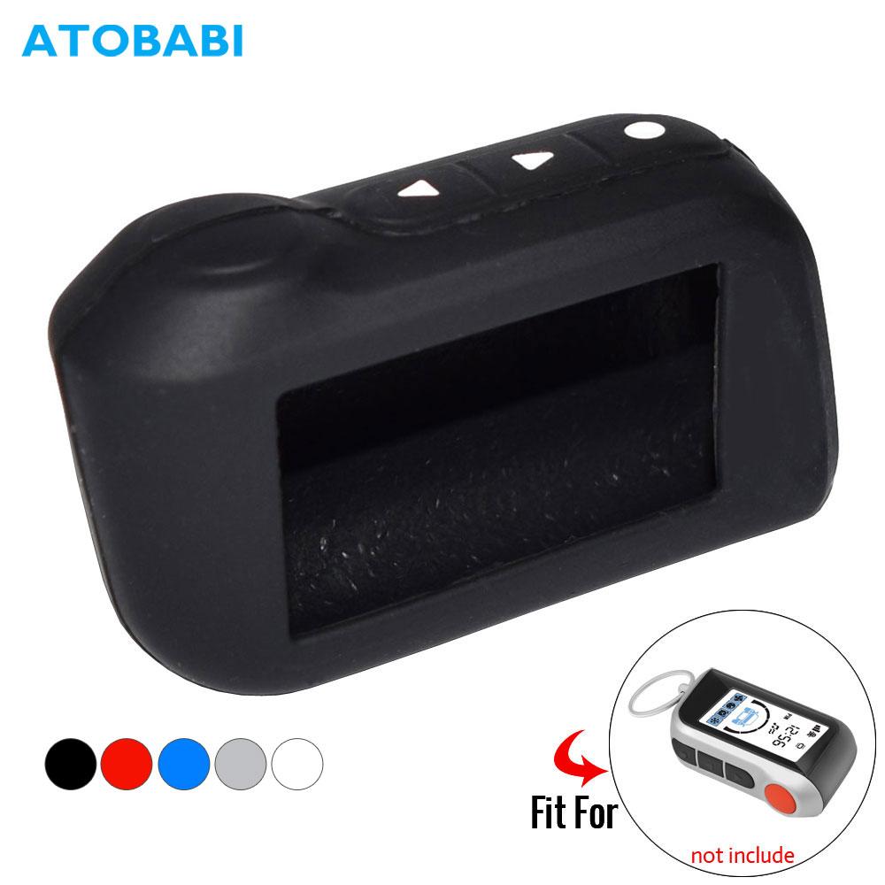 ATOBABI Silicone Key Case For StarLine A39 A96 A93 A36 A63 2-Way Car Alarm System LCD Silica Gel Remote Control Keychain Cover