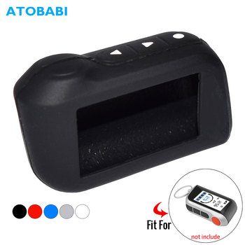 ATOBABI Silicone Key Case For StarLine A39 A96 A93 A36 A63 2-Way Car Alarm System LCD Silica Gel Remote Control Keychain Cover hot selling a91 starline a91 lcd remote controller for two way car alarm keychain starline a91 russian version