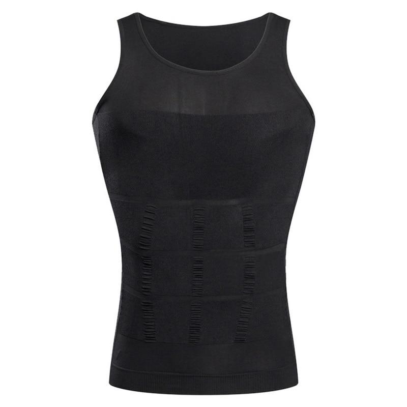 running - LOOZYKIT Men Slimming Body Shaper Vest Shirt Abs Abdomen Slim Running Tights T-Shirts Elastic Gym Sports Vest Fitness Tank Tops