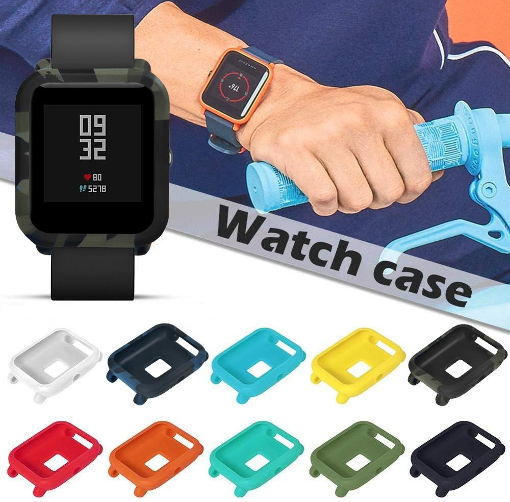Protector For Huami Amazfit Bip Pace Youth Watch Smart Accessories Protector Frame Colorful Case Cover Shell Soft Silicone Frame