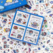 100 sztuk/zestaw ładna dziewczyna Universe Adventure Series dekoracyjne naklejki dekoracyjne przyklejane etykiety pamiętnik papiernicze naklejka na Album