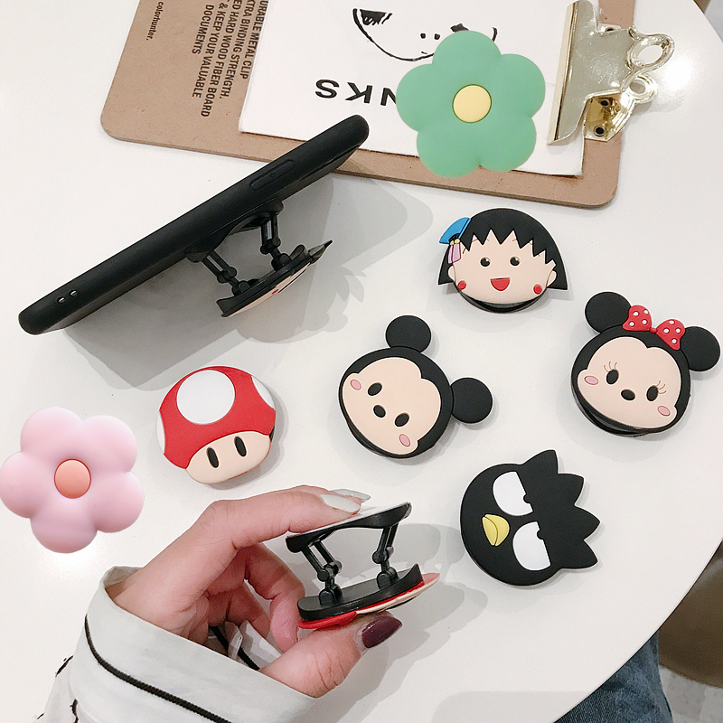Cute Cartoon Air Bag Phone Holder Stretch Bracket Finger Stand Grip Strap Mobile Expanding Anime Universal Cellphone Ring Stand