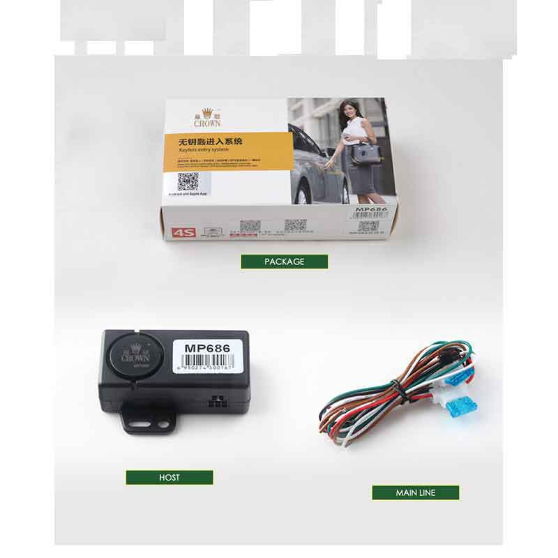 Car Accessories Remote Central Locking Giordon Quad Lock Keyless Entry System Central Lock Automatic Trunk Opening Car Alarm