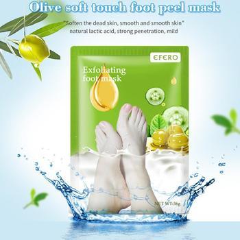 1 Pair Lavender olive Aloe Exfoliating Peel Foot Sock Dead Skin Mask Removes Feet Soft Baby T9S8