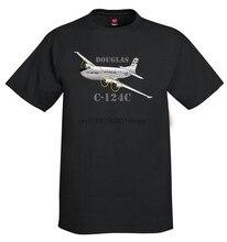 2019 moda ment camisa verão estilo douglas C-124C avião camiseta-personalizado com sua rua wear camiseta