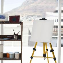 New Thick Aluminum Alloy Easel Golden Small Hand-cranked Telescopic Sketch Easel Folding Art Easel Metal Tripod Display Easel