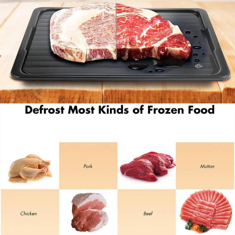 2pcs/Set Fast Defrosting Tray Thaw Frozen Board Food Meat Fish Quick Defrost Plate Kitchen Accessories Gadget