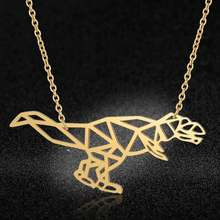 Amazing Dinosaur Necklace LaVixMia Italy Design 100% Stainless Steel Necklaces for Women Super Fashion Jewelry Special Gift(China)