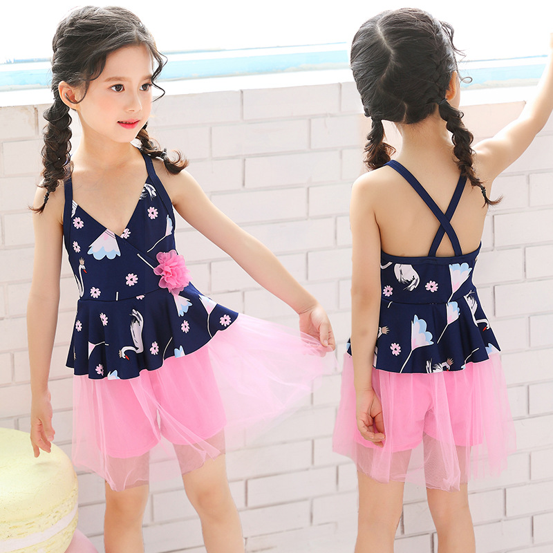 KID'S Swimwear GIRL'S Girls South Korea Cute Tour Bathing Suit Baby One-piece Small CHILDREN'S Princess Bikini Swimwear