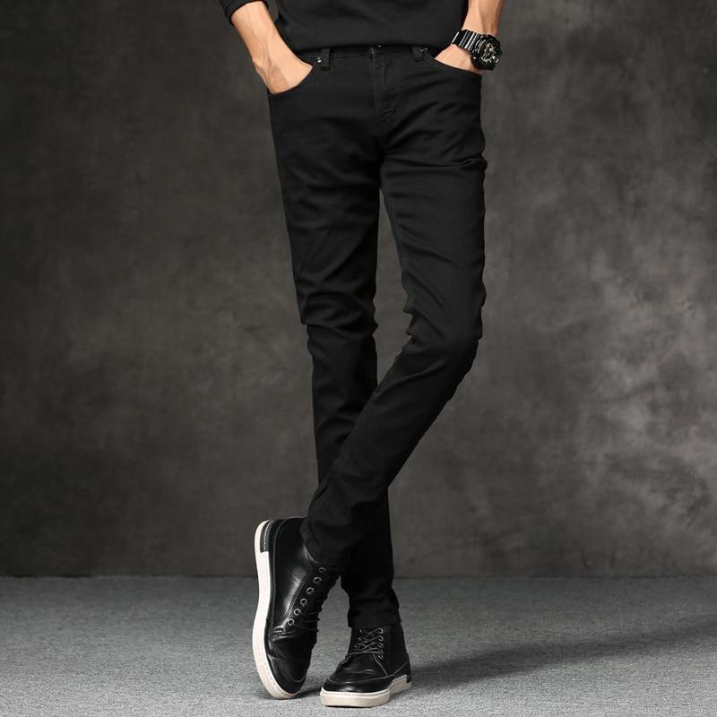 Summer Youth Black Skinny Jeans Men's Korean-style Slim Fit Slimming Jeans Thin Men's Processing