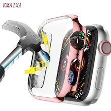 Capa protetora para apple watch series 5 4 3 44mm 40mm 42mm 38mm à prova de choque shatter-resistente escudo quadro pára-choques iwatch 5