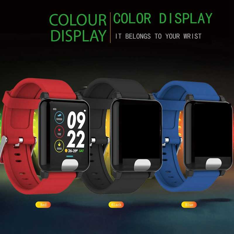"GEJIAN smart watch אק""ג PPG לחץ דם מדידה IP67 פעילות tracker Gps Smartwatch צמיד לב קצב IOS טלפון נייד"