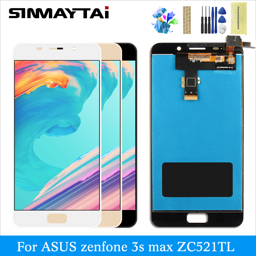LCD for <font><b>ASUS</b></font> ZenFone3s <font><b>max</b></font> ZC521TL X00GD digitizer assembly touch screen replacement black lcd display for <font><b>ASUS</b></font> <font><b>3s</b></font> <font><b>max</b></font> ZC521TL image