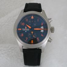 Известный бренд пилот Часы Хронограф VK кварцевые мужские часы Топ пистолет стиль спортивные часы для красивых мальчиков Мода A127