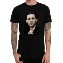 Pop Cotton Tee Short Sleeve Top Crew Neck Mens Rest In Peace Chester Bennington Linkin Park T Shirt 2019 New Men T-Shirt