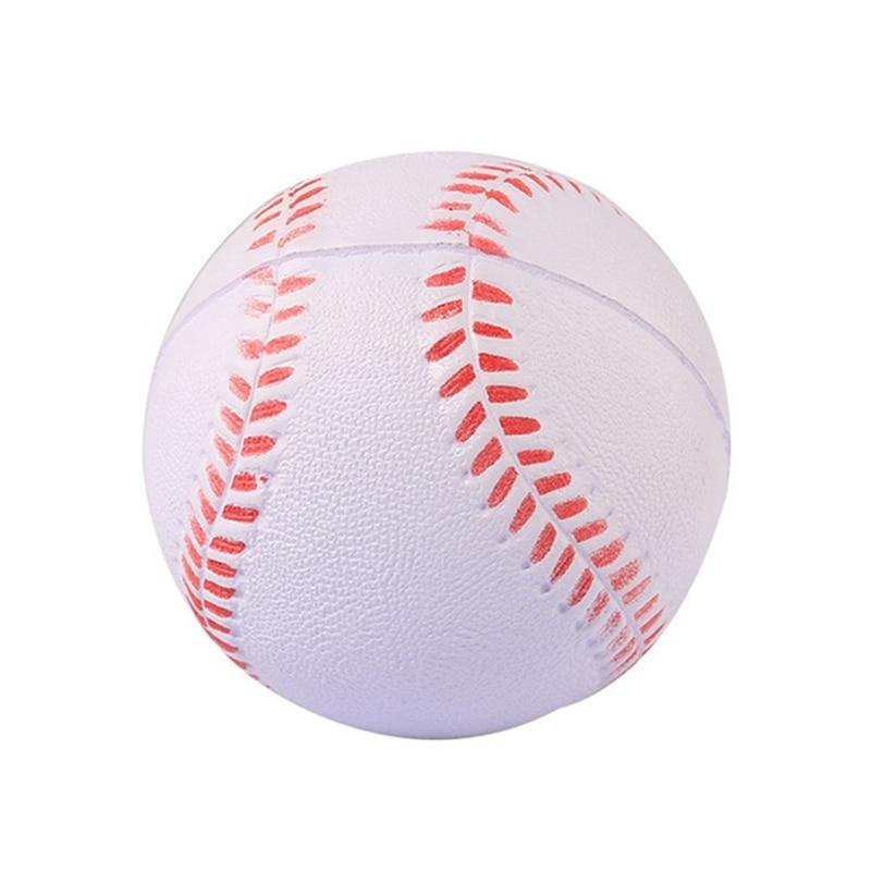 New Hot White Yellow safety kid Baseball Base Ball Practice Trainning PU chlid Softball balls for Sport Team Game