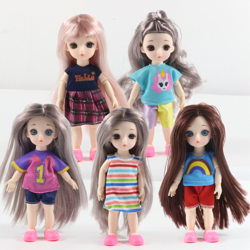 Fashion 2020 Doll's Clothes Handmade Beautiful Dress Doll Accessories 15cm BJD Dolls Toys For Children Girls Birthday Gift