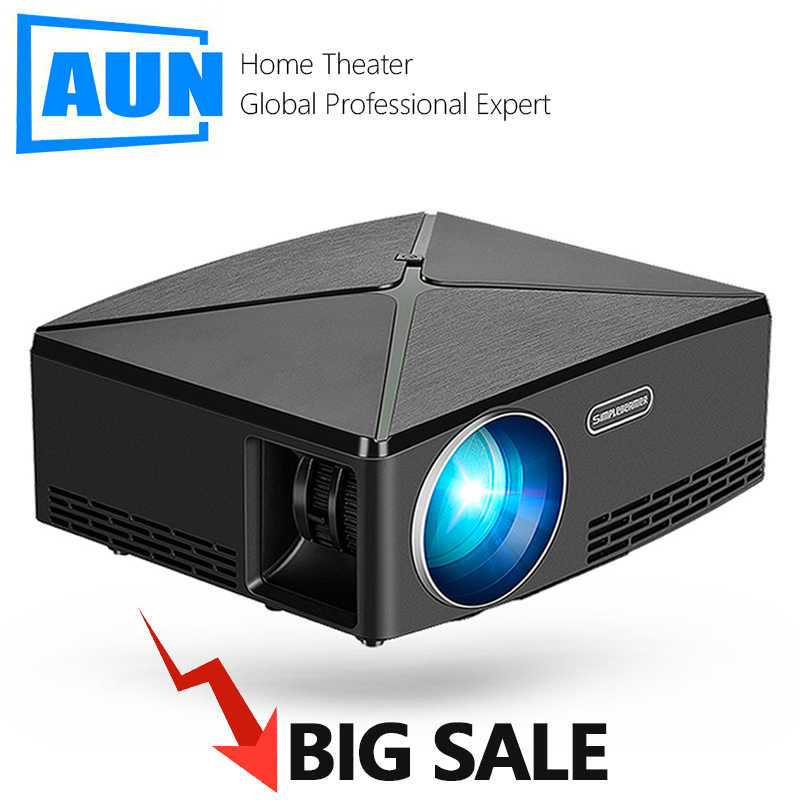 BIG SALE. HD Proyektor C80 MINI Proyektor 3D. Home Theater. C80UP Android WIFI Bluetooth HDMI Video Beamer untuk 4K 1080P