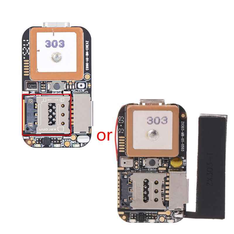Ukuran Super Mini GPS Tracker GSM AGPS Wifi LBS Locator Gratis Web Pelacakan Aplikasi Perekam Suara ZX303 PCBA Dalam R2LC