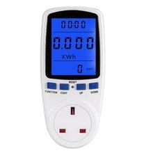 Измеритель мощности цифровой ваттметр счетчик энергии ватт монитор стоимости электроэнергии измерительный разъем Анализатор-синий светильник падение