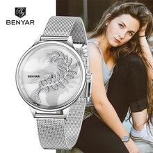 BENYAR למעלה מותג היוקרה לצפות ילדה שעון 2019 חדש רישום פשוט נשים שעונים קוורץ שעון גבירותיי Relogio Feminino + תיבה