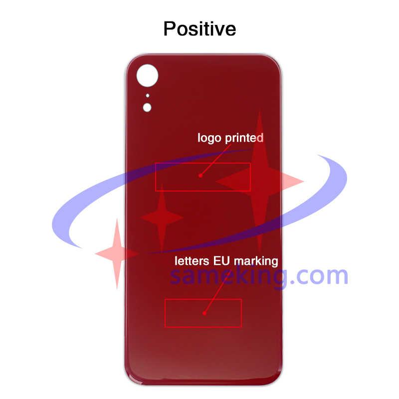 الحفرة الكبيرة الزجاج الخلفي ل iphone 8 8 زائد X xs xsmax xr عودة الزجاج الإسكان + رسائل + الاتحاد الأوروبي أوروبا النسخة بمناسبة + شعار