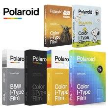 Original polaroid i-type b & w cor preta filme de papel foto instantânea 8 folhas para polaroid onestep +, onestep2 vf +, impossível 1-1