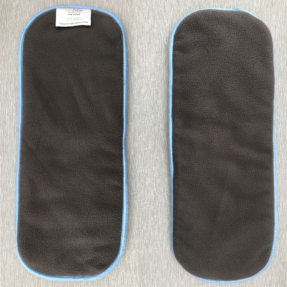 Big Promotion 1PC Black Bamboo Charcoal Inserts FIVE LAYERS  Nappy Inserts Bamboo Carbon Liners For Normal Diapers