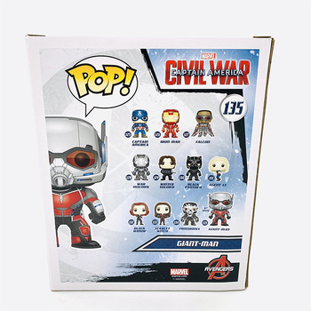 "Funko Pop 6"" MARVEL CIVIL WAR CAPTAIN AMERICA GIANT MAN #135 Vinyl Action Figure Dolls Toys 2"