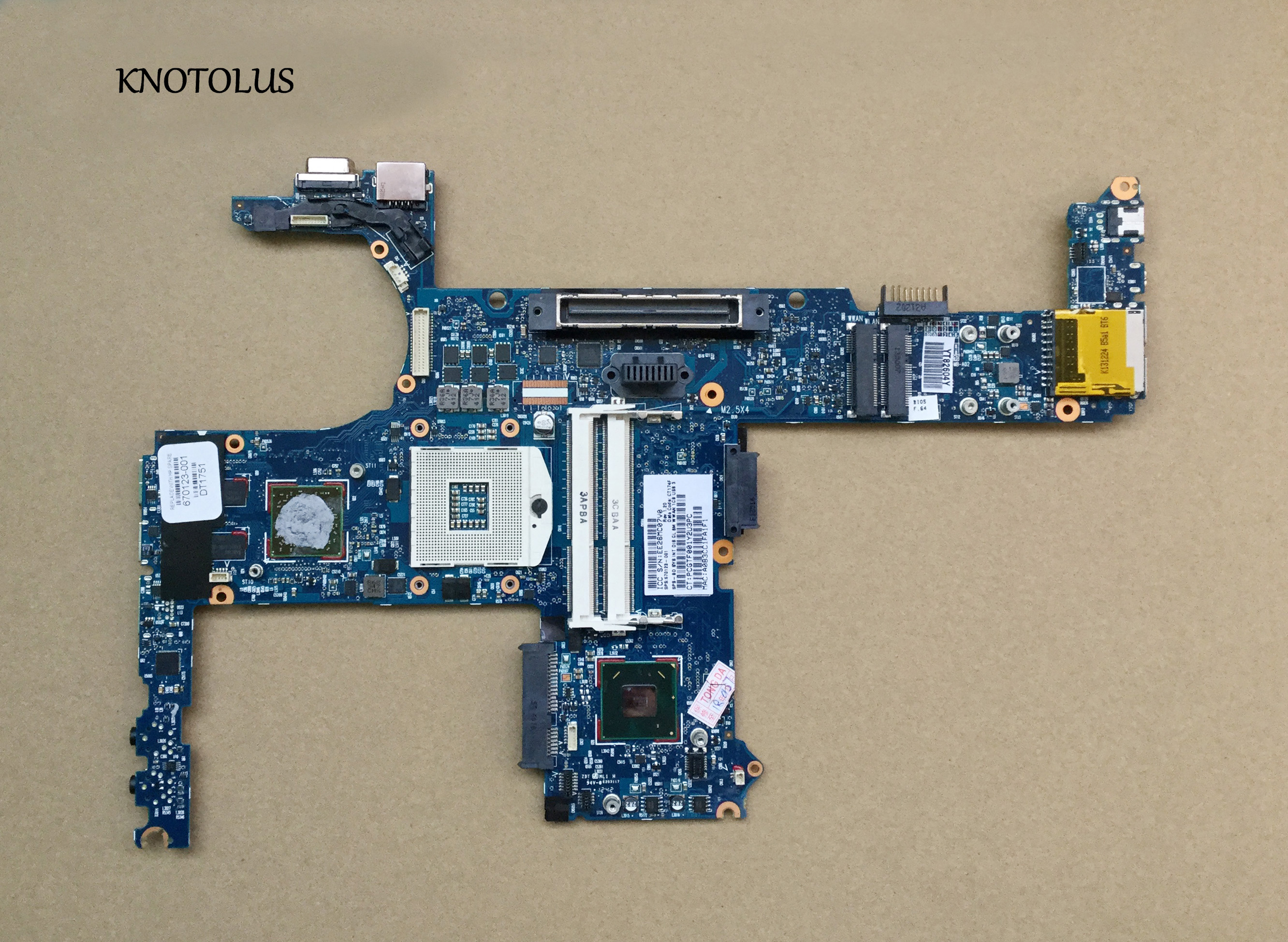 High quality 670123-001 Laptop <font><b>Motherboard</b></font> for <font><b>hp</b></font> <font><b>8460P</b></font> 8460W <font><b>motherboard</b></font> HM65 ddr3 full tested OK image