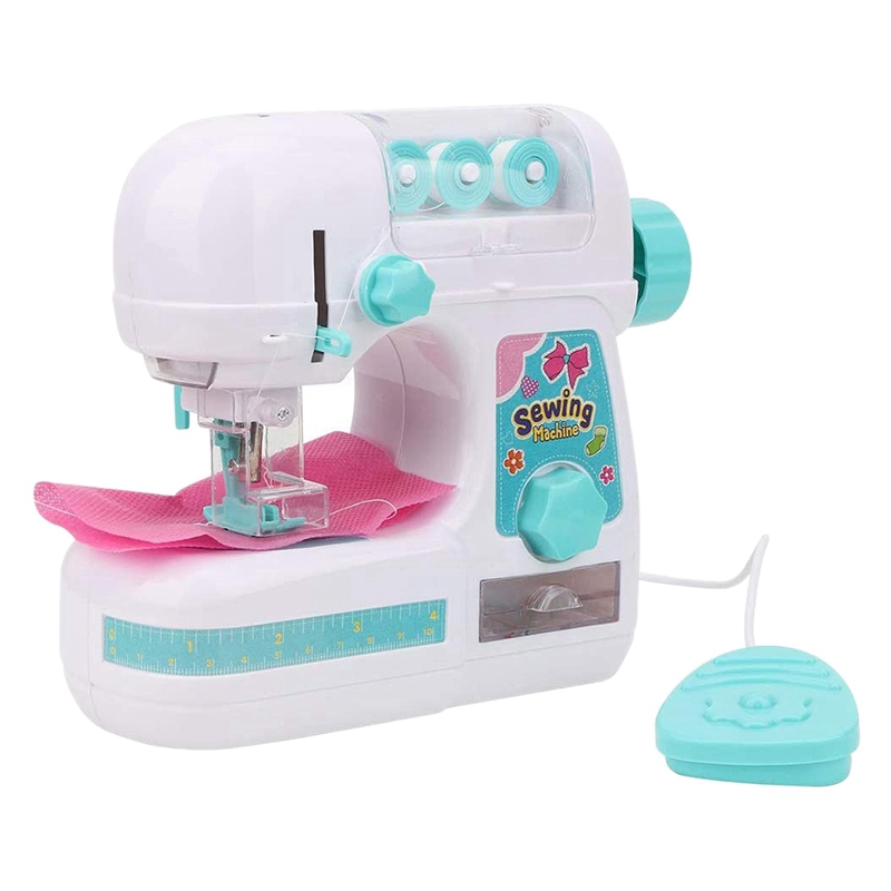 Simulation Electric Medium-Sized Sewing Machine Toy Learning Design Clothing Toy Girl Creative Gift