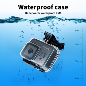 Image 2 - for Gopro Accessories Set go pro hero 8 kit EVA case Tempered film waterproof Housing case red filter Frame silicone Protector