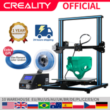 Impresora CREALITY 3D CR 10/CR 10S de gran tamaño de impresión 300*300*400mm, Kit de impresora 3D Semi DIY, filamento SIN CAMA DE ALUMINIO calentado