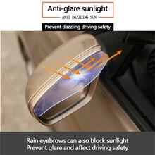 цена на Car Mirror Accessories 4/2PCS Universal Car Rearview Mirror Rain Shade PVC Auto Back Mirror Eyebrow Rain Cover Dropshipping
